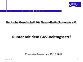 Deutsche Gesellschaft für Gesundheitsökonomie e.V.