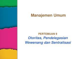 Manajemen Umum