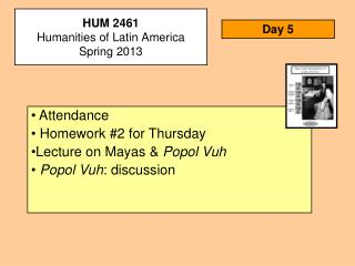 HUM 2461 Humanities of Latin America Spring 2013