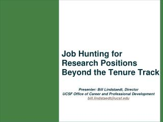 Job Hunting for Research Positions Beyond the Tenure Track