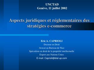 Aspects juridiques et r glementaires des strat gies e-commerce