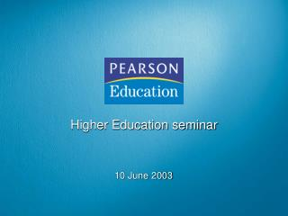 Higher Education seminar