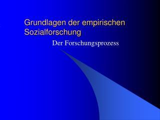 Grundlagen der empirischen Sozialforschung