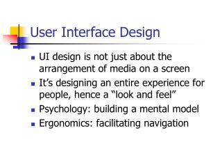 Lecture on user interface design and prototyping