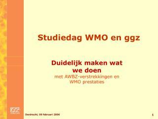 Studiedag WMO en ggz