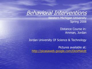 My story with studying from behavioral view