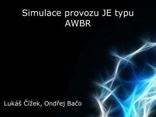 Simulace provozu JE typu AWBR