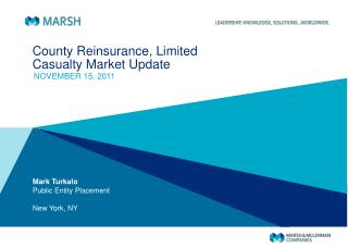 County Reinsurance, Limited Casualty Market Update