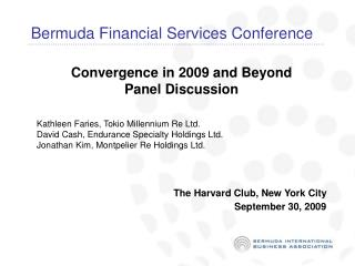 Bermuda Financial Services Conference