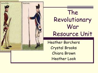 The Revolutionary War Resource Unit
