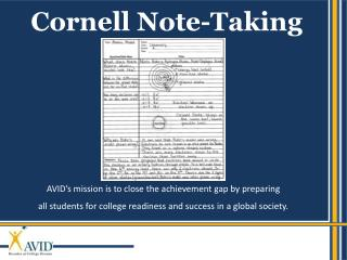 Cornell Note-Taking