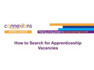 How to Search for Apprenticeship  Vacancies
