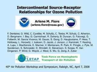 Intercontinental Source-Receptor Relationships for Ozone Pollution