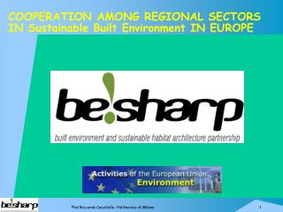 COOPERATION AMONG REGIONAL SECTORS  IN Sustainable Built Environment IN EUROPE