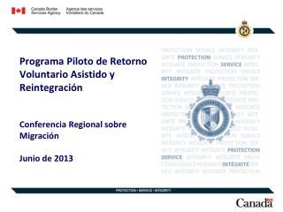 Programa Piloto de Retorno Voluntario Asistido y Reintegración