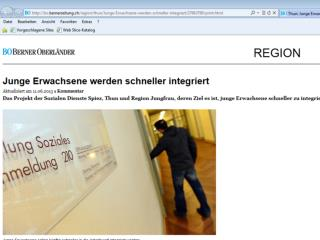 Junge Erwachsene in der Sozialhilfe Berner Oberland