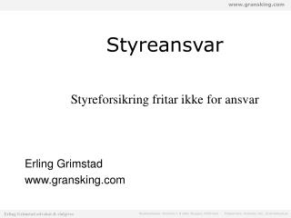 Styreansvar