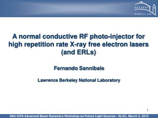 A normal conductive RF photo-injector for high repetition rate X-ray free electron lasers