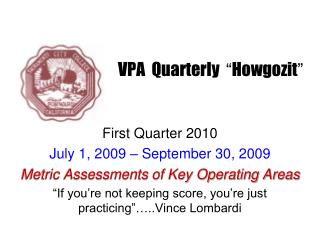 VPA  Quarterly   � Howgozit �
