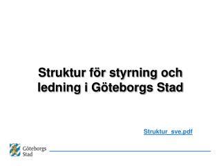 Struktur för styrning och ledning i Göteborgs Stad
