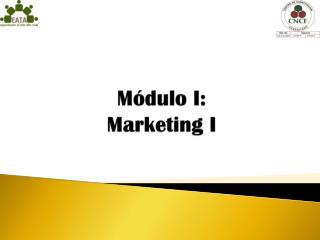 Módulo I: Marketing I