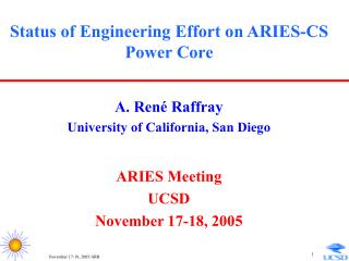 Status of Engineering Effort on ARIES-CS Power Core