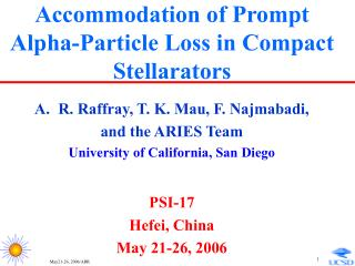 Accommodation of Prompt Alpha-Particle Loss in Compact Stellarators