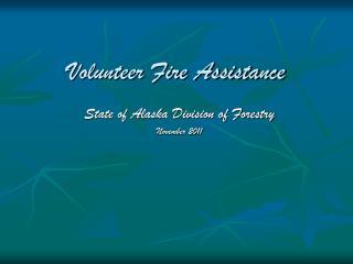 Volunteer Fire Assistance