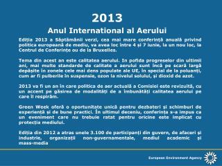 2013 Anul International al Aerului