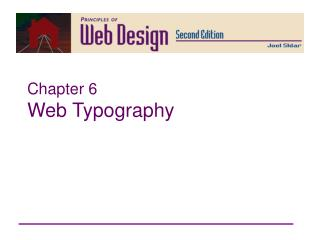Chapter 6 Web Typography Principles of Web Design 2nd Ed ...