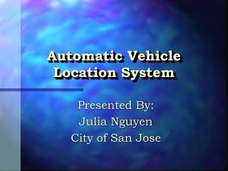 Automatic Vehicle Location System