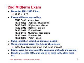 2nd Midterm Exam