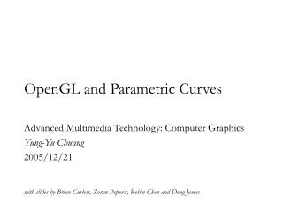 OpenGL and Parametric Curves