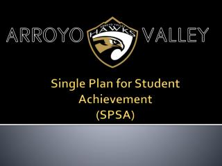 Single Plan for Student Achievement (SPSA)