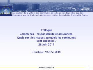 Colloque Communes – responsabilité et assurances