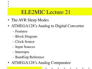 ELE2MIC Lecture 21