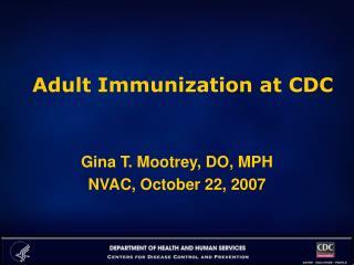 Adult Immunization at CDC