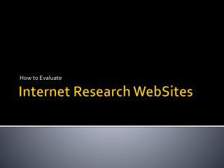 Internet  Research  WebSites