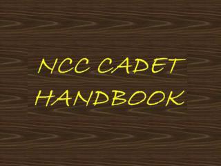 NCC CADET HANDBOOK
