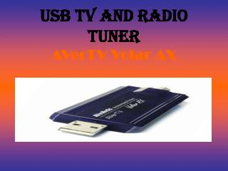 USB TV AND RADIO TUNER AVerTV Volar AX