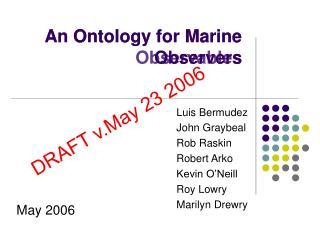 An Ontology for Marine Observables
