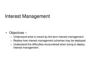 Interest Management