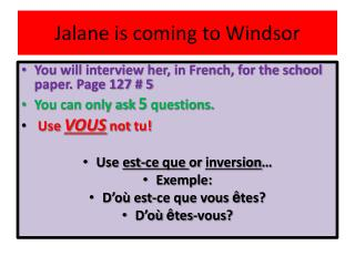 Jalane is coming to Windsor