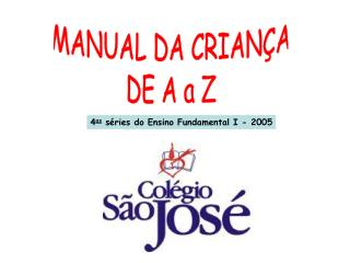 MANUAL DA CRIANÇA DE A a Z