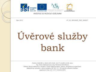 Úvěrové služby bank