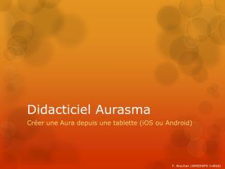 Didacticiel Aurasma