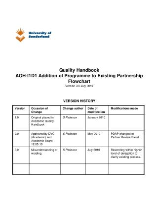 1. Addition of a further programme to existing partner