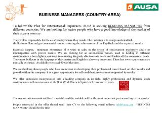BUSINESS MANAGERS (COUNTRY-AREA)