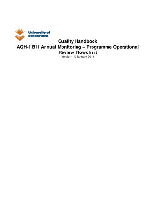 AQH I1B1i Annual Monitoring Programme Operational Review Flowchart