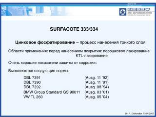 SURFACOTE 333/334